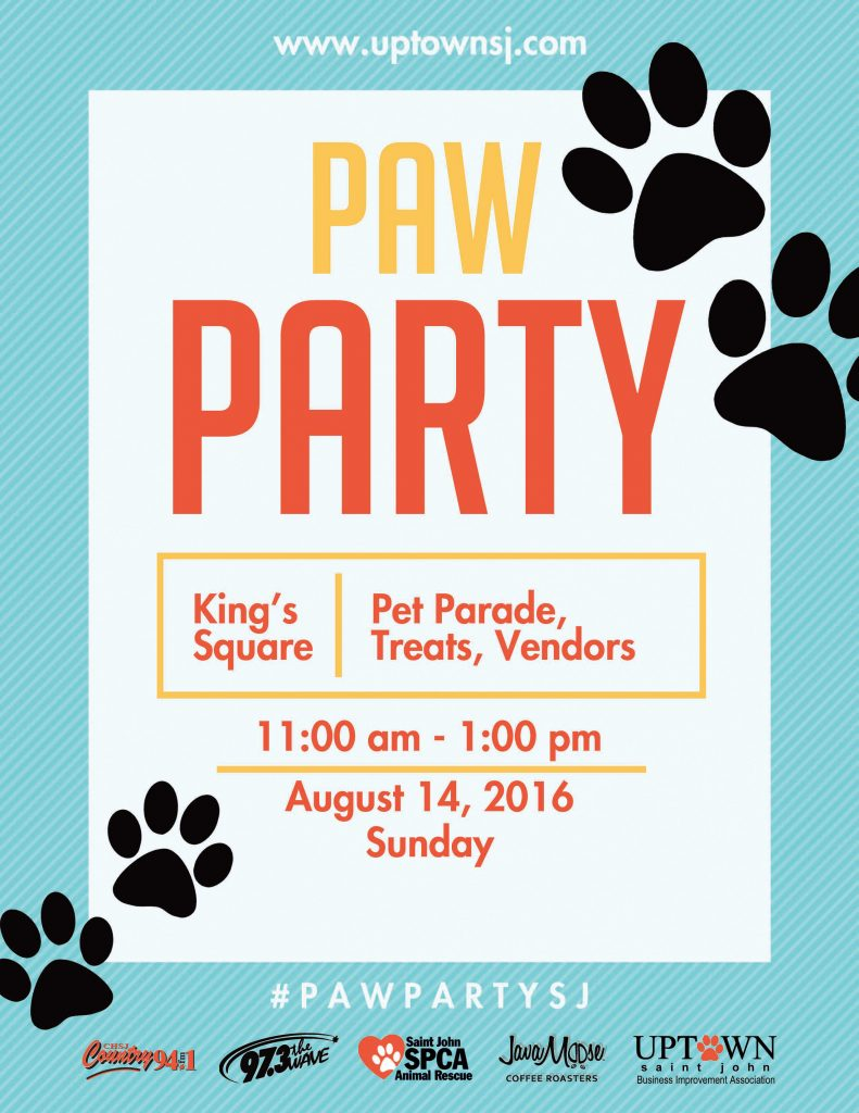 Paw Party Poster 2016